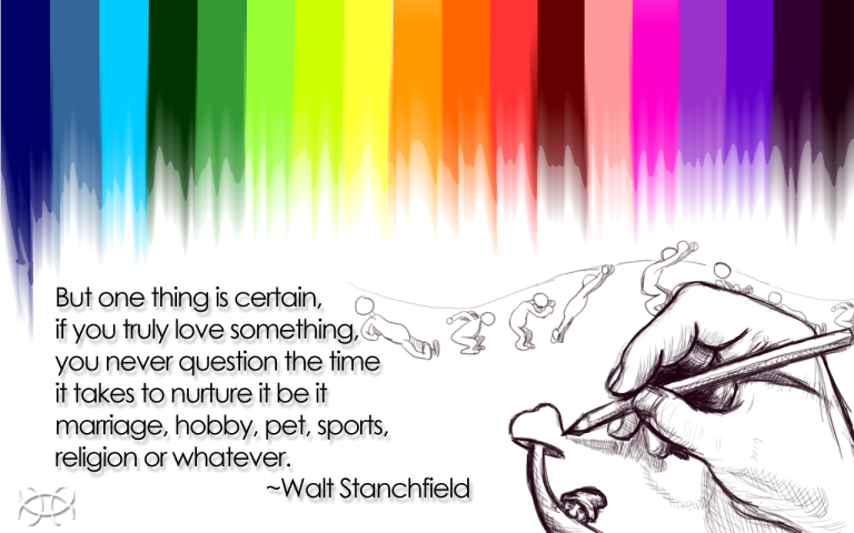 """walt stanchfield"" ""preston blair"" ""imushroomu"" ""rainbow"" ""colors"" ""hand drawn"" ""animation"" ""gnome"" ""hand"" ""quote"""
