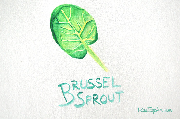 Brussel Sprout Watercolor