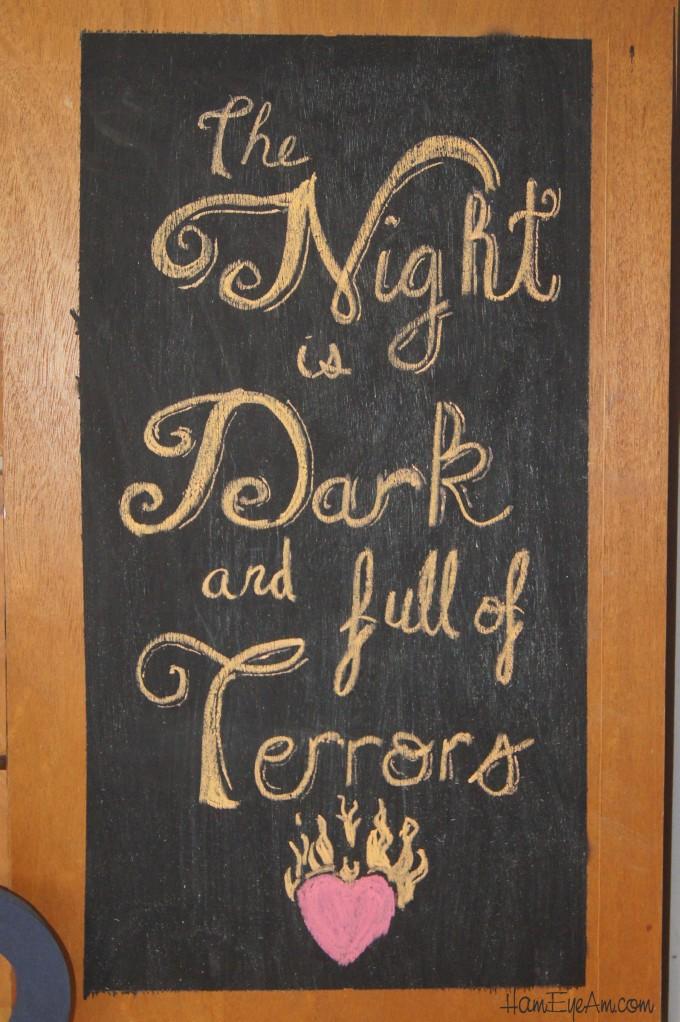 The Night is Dark Chalk