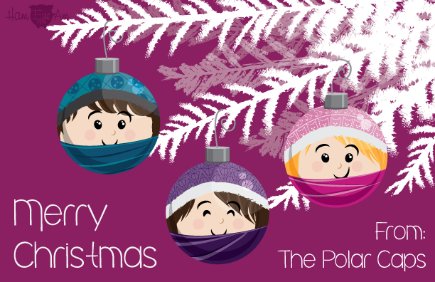 Polar Caps Christmas Card 14