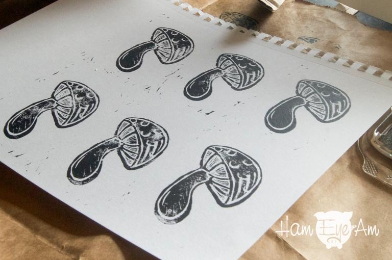 Block Print Mushroom