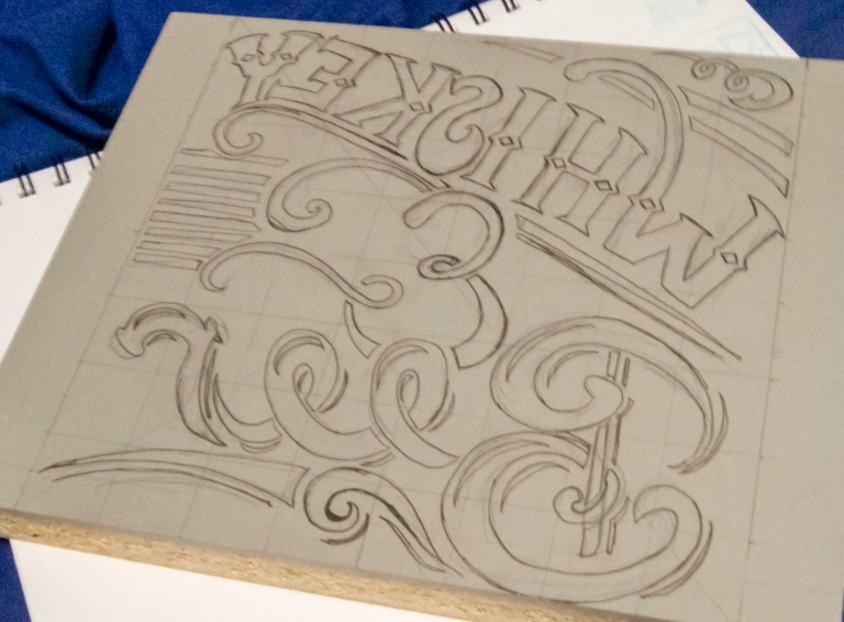 Whiskey & Beer Block Print