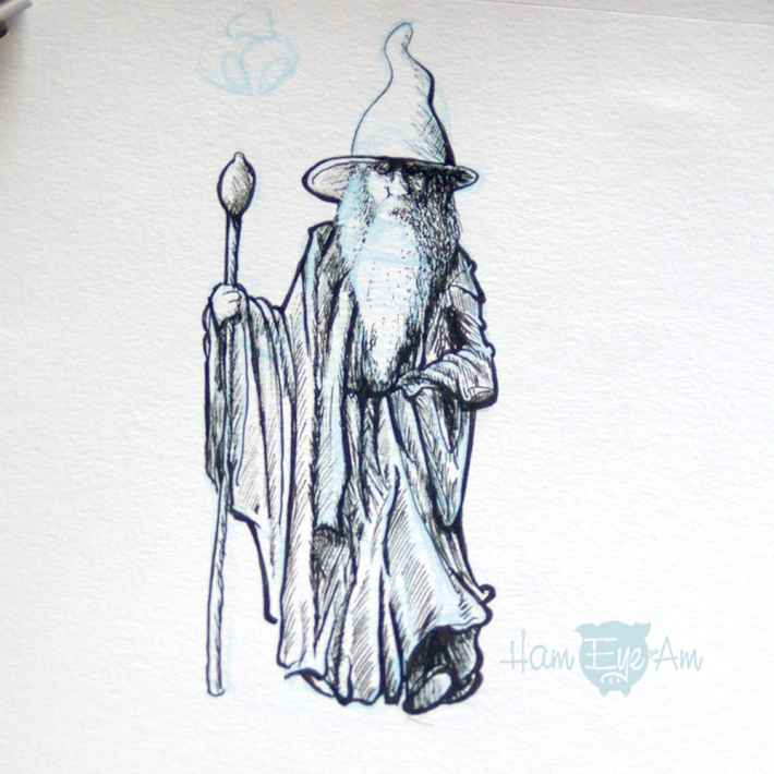 Gandalf Drawing