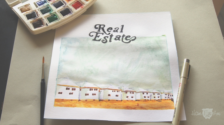 Real Estate Watercolor