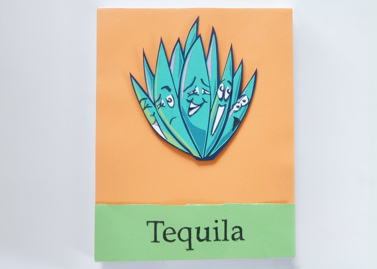 """Tequila Agave Plant Paper Art Piece 8""""x11"""""""